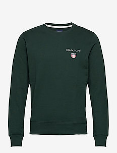 D1. MEDIUM SHIELD C-NECK SWEAT - basic-sweatshirts - tartan green