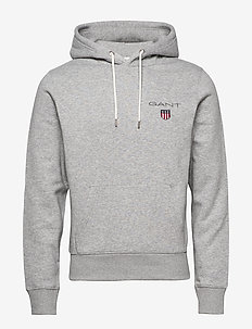 D1. MEDIUM SHIELD HOODIE - sweats basiques - light grey melange