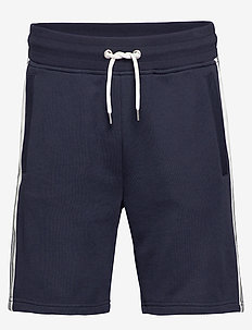 D1. GANT STRIPE SWEAT SHORTS - EVENING BLUE