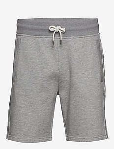 D1. GANT STRIPE SWEAT SHORTS - GREY MELANGE