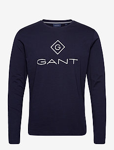 GANT LOCK UP LS T-SHIRT - t-shirts à manches longues - evening blue
