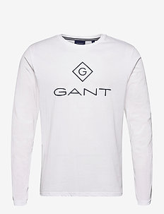 GANT LOCK UP LS T-SHIRT - t-shirts à manches longues - white
