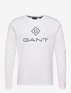 GANT LOCK UP LS T-SHIRT - long-sleeved t-shirts - white