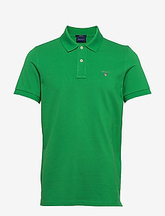 ORIGINAL PIQUE SS RUGGER - short-sleeved polos - amazon green