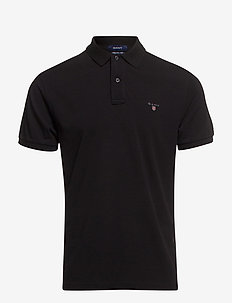 ORIGINAL PIQUE SS RUGGER - short-sleeved polos - black