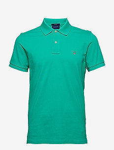 ORIGINAL PIQUE SS RUGGER - short-sleeved polos - blarney green