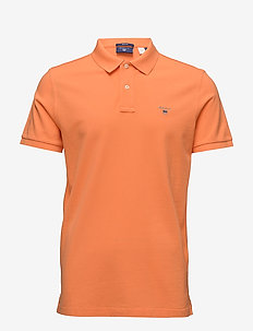 ORIGINAL PIQUE SS RUGGER - kortermede - carrot orange