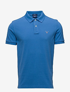 ORIGINAL PIQUE SS RUGGER - short-sleeved polos - crisp blue