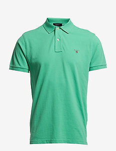 ORIGINAL PIQUE SS RUGGER - short-sleeved polos - emerald green