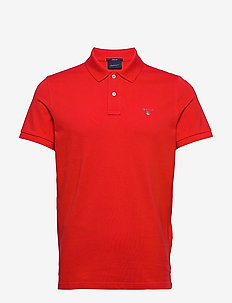 ORIGINAL PIQUE SS RUGGER - short-sleeved polos - fiery red