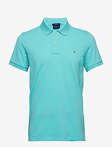 ORIGINAL PIQUE SS RUGGER - short-sleeved polos - pool green