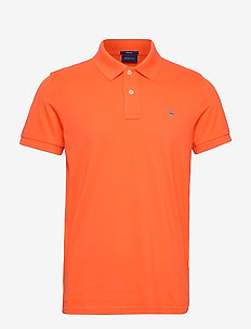 ORIGINAL PIQUE SS RUGGER - polos à manches courtes - sunny orange