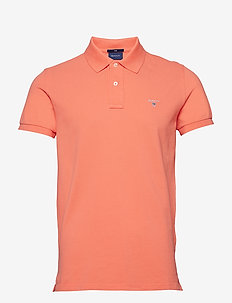 ORIGINAL SLIM PIQUE SS RUGGER - CORAL ORANGE