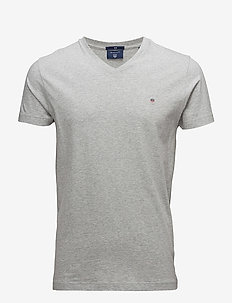 THE ORIGINAL SLIM V-NECK T-SHIRT - basic t-shirts - light grey melange