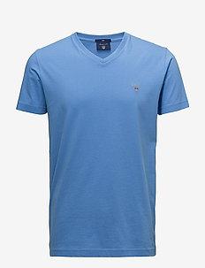 THE ORIGINAL SLIM V-NECK T-SHIRT - PACIFIC BLUE