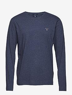 THE ORIGINAL LS T-SHIRT - basic t-shirts - dark jeansblue melange