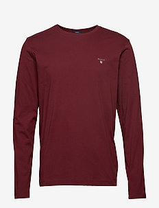THE ORIGINAL LS T-SHIRT - long-sleeved t-shirts - port red
