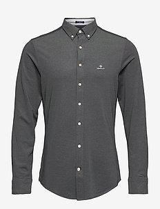 TP SLIM PIQUE BD - basic skjorter - black