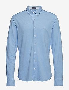 TP SLIM PIQUE BD - basic skjorter - capri blue