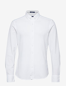TP SLIM PIQUE BD - chemises basiques - white