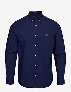 O2. GMT DYED BROADCLOTH REG BD - basic skjorter - persian blue