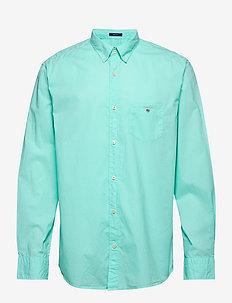 O2. GMT DYED BROADCLOTH REG BD - basic skjorter - pool green