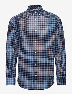 D1. BRUSHED OXFORD CHECK REG BD - checkered shirts - marine