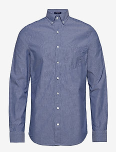 O1. THE BROADCLOTH DOT SLIM BD - COLLEGE BLUE