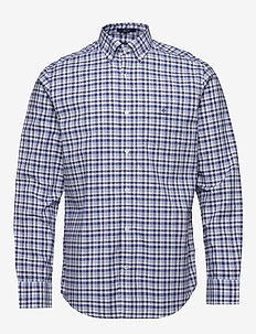 D1. OXFORD MICRO MADRAS REG BD - checkered shirts - blue bell