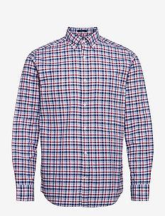 D1. OXFORD MICRO MADRAS REG BD - koszule w kratkę - fiery red