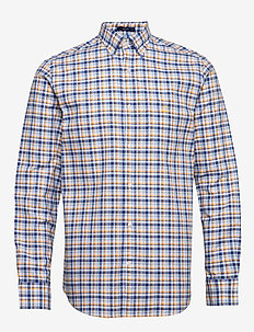 D1. OXFORD MICRO MADRAS REG BD - checkered shirts - ivy gold