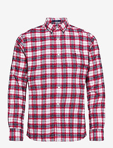 D2. FLANNEL CHECK REG BD - casual shirts - bright red