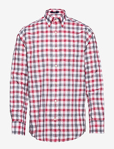 D1. TP OXF HEATHER GINGHAM REG LBD - oxford shirts - bright red