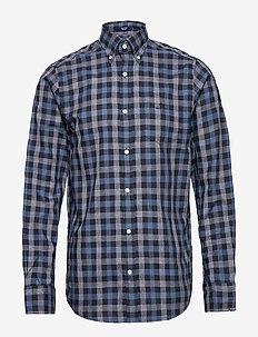 D1. TP OXF HEATHER GINGHAM REG LBD - oxford shirts - marine