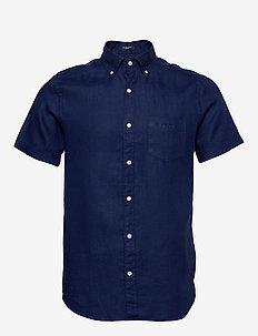 THE LINEN SHIRT REG SS  BD - basic shirts - navy