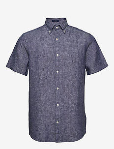 THE LINEN SHIRT REG SS  BD - chemises basiques - persian blue