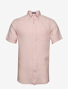 THE LINEN SHIRT REG SS  BD - chemises basiques - seashell pink