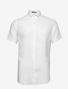 THE LINEN SHIRT REG SS  BD - chemises basiques - white