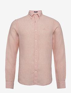 SLIM LINEN SHIRT BD - chemises basiques - seashell pink