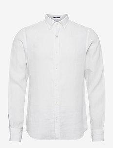 SLIM LINEN SHIRT BD - podstawowe koszulki - white