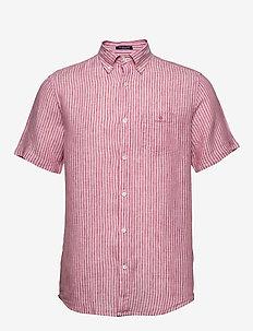 THE LINEN STRIPE REG SS BD - chemises de lin - rapture rose