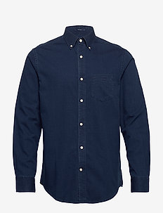 D1. INDIGO DIAMOND DOBBY REG BD - basic shirts - dark indigo