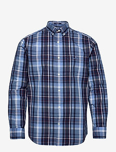 D1. TP INDIGO MADRAS REG BD - checkered shirts - pacific blue