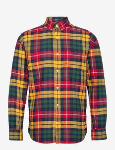 D1. REG FLANNEL CHECK BD - chemises décontractées - medallion yellow