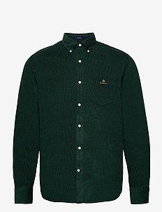 D2. CORDUROY REG BD - casual overhemden - tartan green