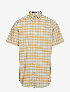 D1. TP BROADCLOTH PLAID REG BD SS - HONEY GOLD