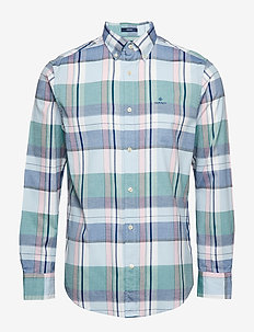 D1. OXFORD MADRAS REG BD - HAMPTONS BLUE