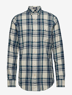D2. WB FLANNEL INDIGO REG BD - PUTTY
