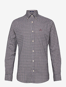 D2. WINDBLOWN OXFORD CHECK REG BD - EVENING BLUE