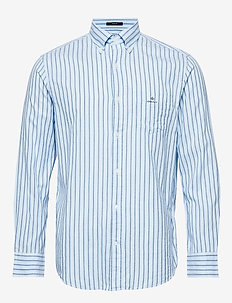 D1. WB OXFORD STRIPE REG BD - business shirts - marine